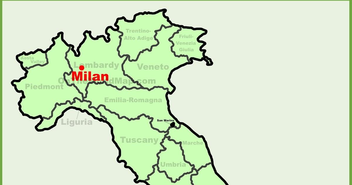 Milan Map Of Italy   Zip Code Map