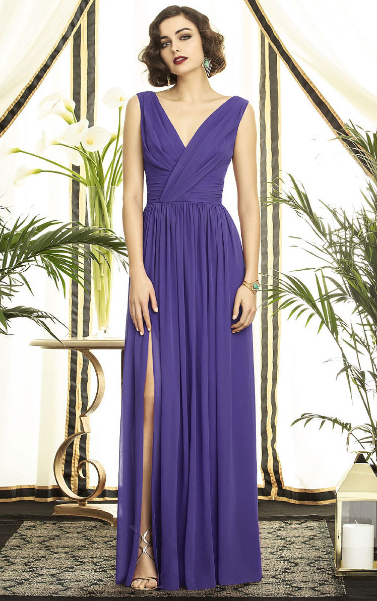 Sleeveless V-neck A-line Zipper Natural Bridesmaid Dresses_1
