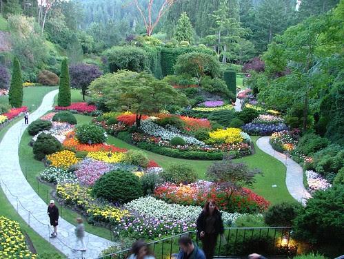 Sunken Gardens, Butchart Gardens, Victoria, British Columbia. by Jeffrey Beall