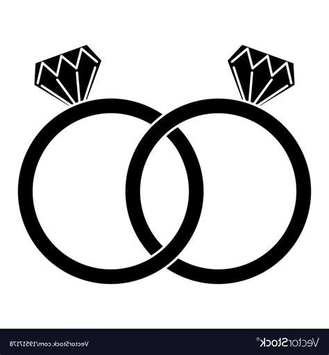 Diamond Engagement Rings Icon Image Vector   SOIDERGI