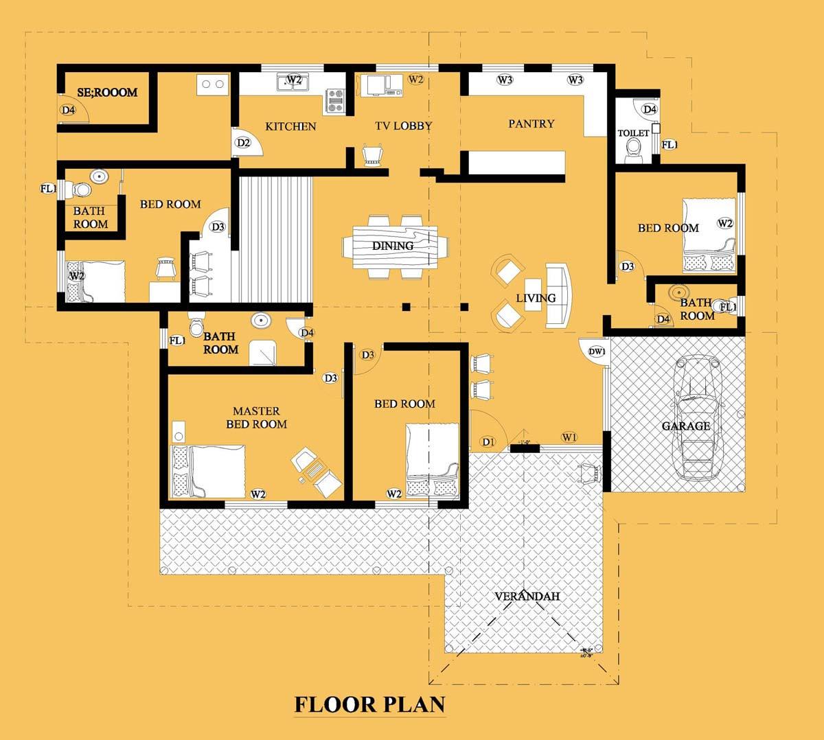 house plan: Small House Plans In Sri Lanka