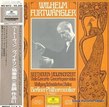 FURTWANGLER, WILHELM beethoven; violin konzert