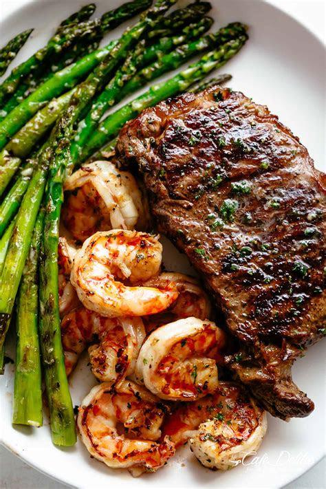 garlic butter grilled steak shrimp cafe delites