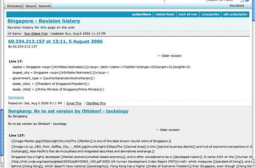 Screenshot - Wiki Edit history RSS