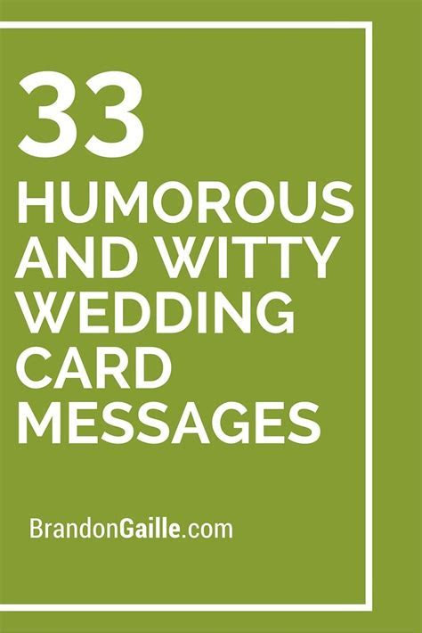 35 Humorous and Witty Wedding Card Messages   Wedding