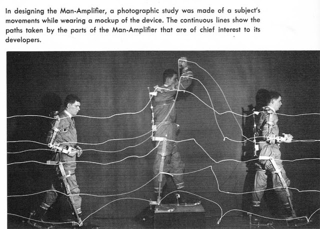 man amplifier bionics pt2 x640 1961 2   Cornell Aeronautical Labs Man Amplifier   Neil Mizen (American)