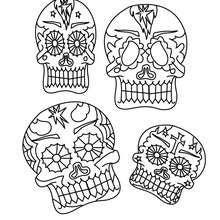 Dibujos Para Colorear Dia De Muertos Imprimir 16 Dibujos Para Pintar