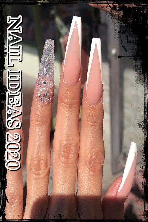 Trendy Nails Acrylic Coffin Long