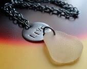 CLEARANCE SALE INSPIRATION LIVE MANTRA Genuine Sea Glass Necklace by Lake Erie Beach Glass LEbg
