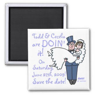 Unique Funny Save The Date Magnet magnet