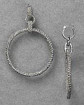 ABS by Allen Schwartz Pavé Hoop Earrings