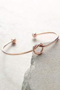 Let's Tie the Knot Rose Gold Bracelet