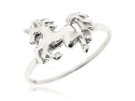 sovats unicorn ring  sterling silver horse ring fantasy
