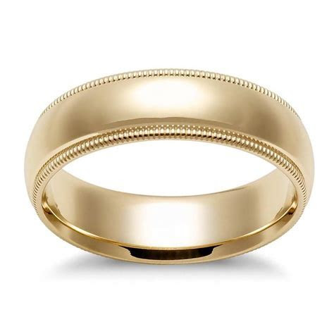 Avital & Co Jewelry Yellow Gold 5.0 Mm 14k Ring Men's