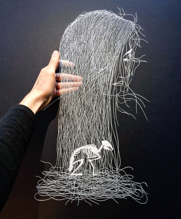 Escultura de papel cortado 1