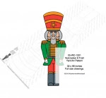 Nutcracker 8 ft tall Yard Art Woodworking Pattern - fee plans from WoodworkersWorkshop® Online Store - nutcrackers,Christmas,yard art,painting wood crafts,scrollsawing patterns,drawings,plywood,plywoodworking plans,woodworkers projects,workshop blueprints