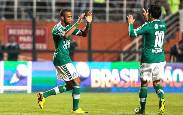 Wesley comemoração Palmeiras contra o ABC (Foto: Miguel Schincariol / Agência estado)