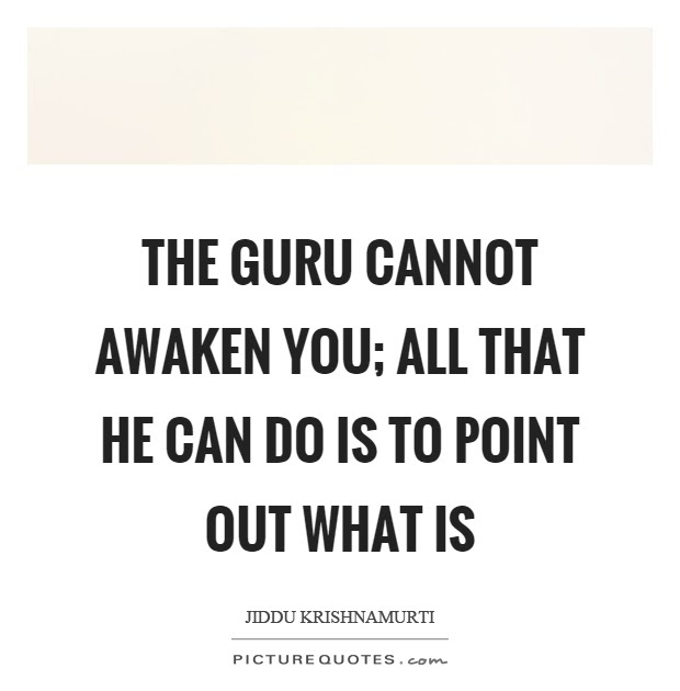 quotes the guru cannot awaken you all that he can do is to