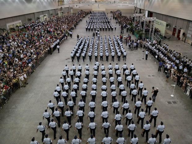 Primeiro evento com promoções de policiais e bombeiros será em Fortaleza, no Centro de Evento (Foto: Tiago Stille/Governo do Ceará)