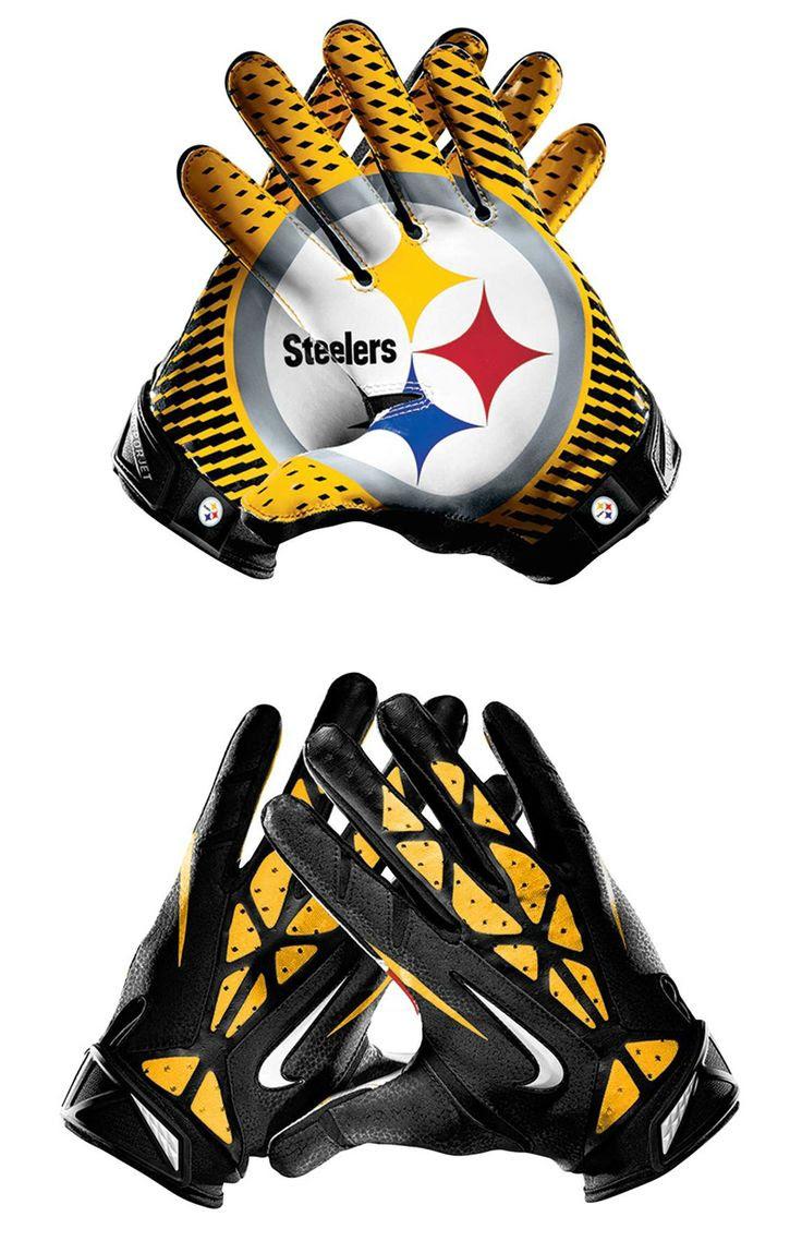 NFL Pittsburgh Steelers Vapor Jet 2.0 American Football Wide Receiver Gloves  Gloves for