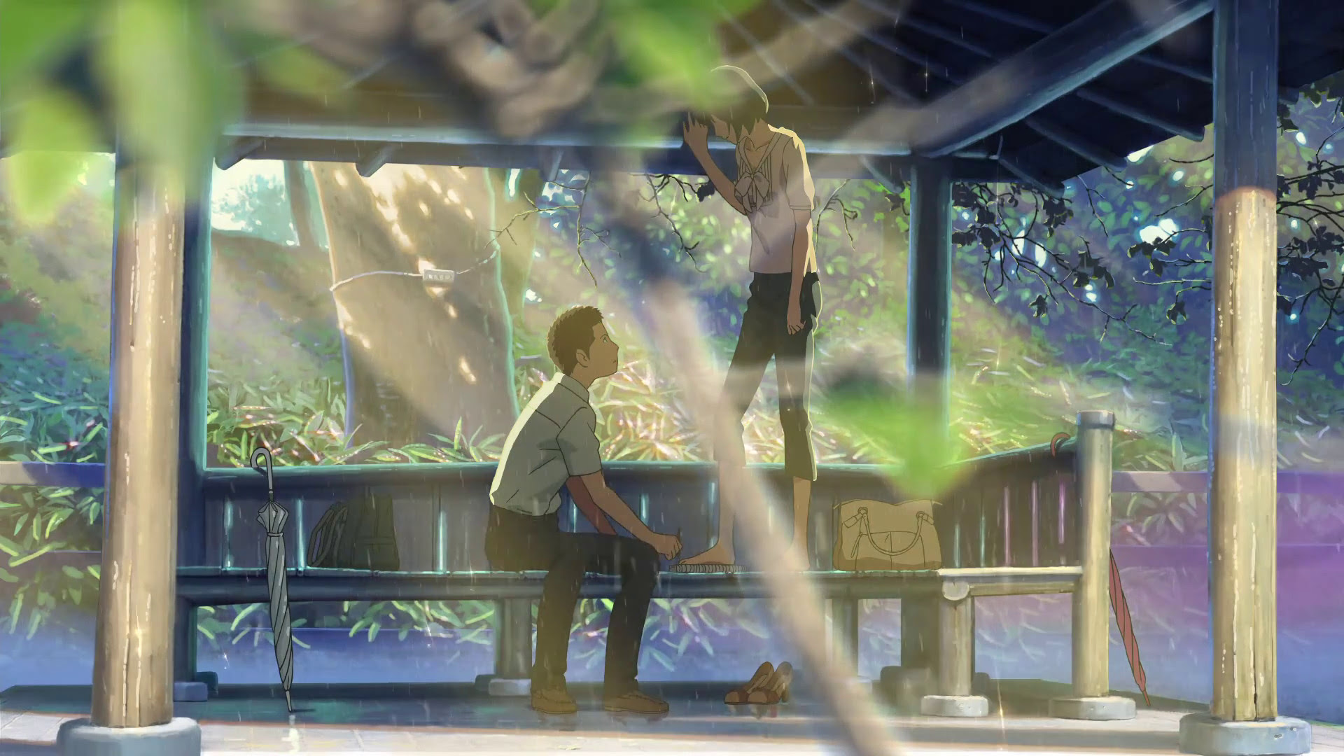 The Garden Of Words Makoto Shinkai Wallpaper 42699870 Fanpop