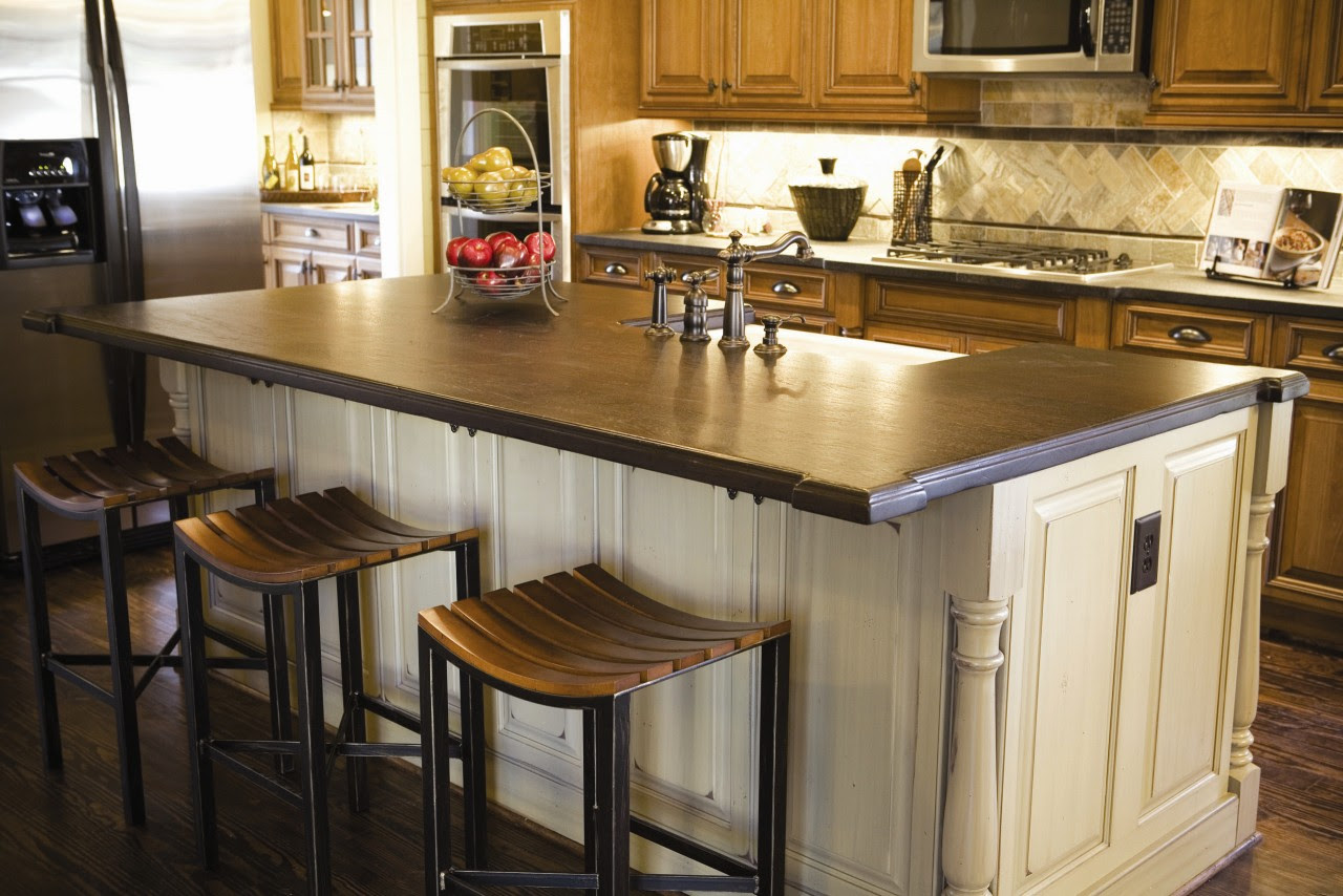 15 Ideas For Wooden Base Stools in Kitchen & Bar Decor