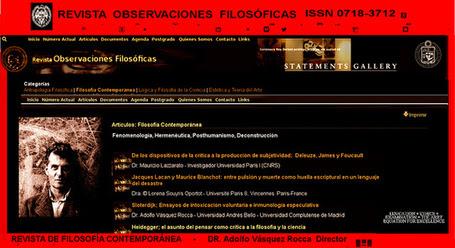 REVISTA DE FILOSOFÍA CONTEMPORÁNEA – REVISTA OBSERVACIONES FILOSÓFICAS – Dr. ADOLFO VÁSQUEZ ROCCA  Director | ADOLFO VÁSQUEZ ROCCA | Scoop.it