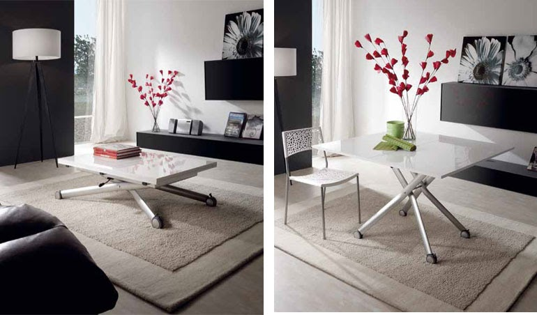 Mesas multiusos - Mesa de centro blanca ...