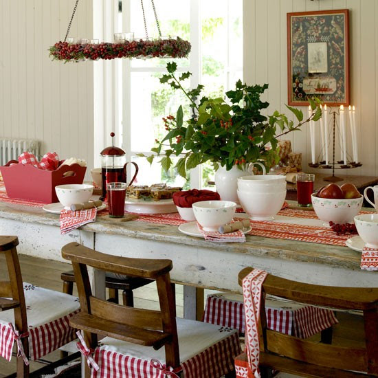 Country Christmas | Christmas table decorating ideas | Christmas ...