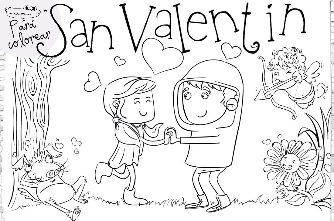 Dibujos De San Valentín Actividades Para Niños Manualidades