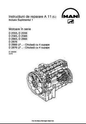 MAN D2866 manuals, specs, bolt torques
