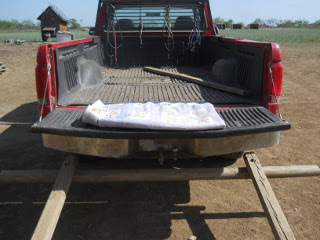 Tailgate Seat for Seed Spreading Person
