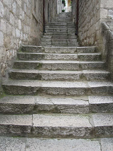 stairs in Dubrovnik by Anna Amnell