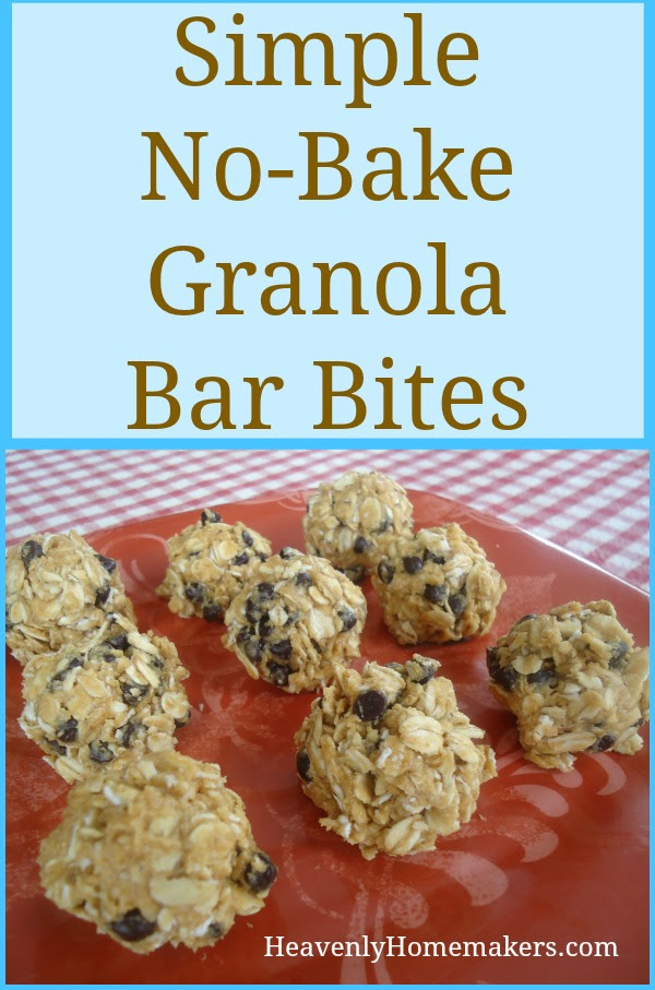 Simple No-Bake Granola Bar Bites