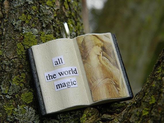 All the World, Magic -- Book Glamourkin Pendant