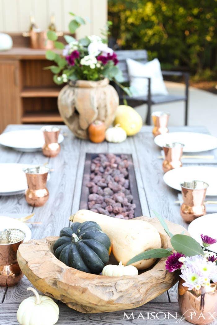 outdoor fall table thanksgiving decorating ideas-maison de pax