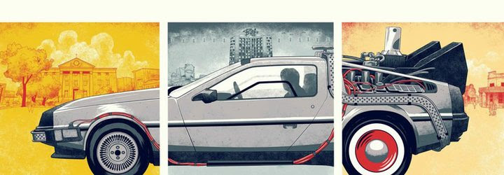 Dibujo sobre el famoso coche creado por un fan a raíz del aniversario de la trilogía
