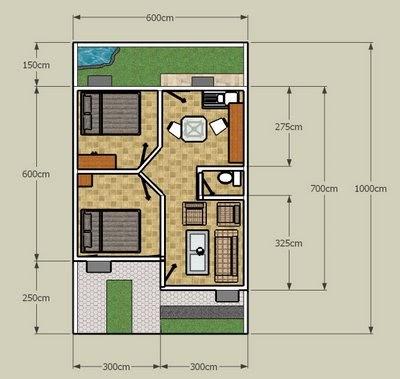 rumah sederhana ukuran 6x8 - micro usb k
