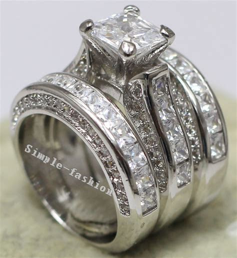 Vecalon Women Fashion Jewelry Full princess cut 15ct 5A