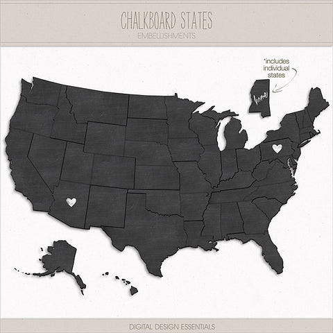 NEW! Chalkboard States