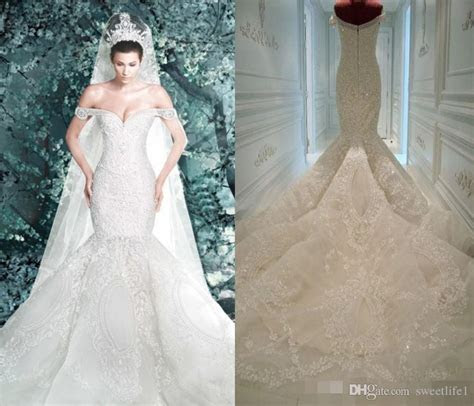 .Michael Cinco Wedding Dresses 2016 New Arrival Pearls