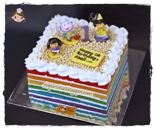 The Fairies Cake Dan Artinya : ** DAPUR SOLIA **: Dora the Explorer Rainbow Cake