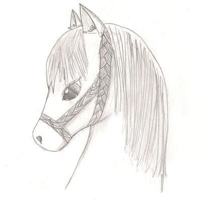 pencil drawing   cute anime pony