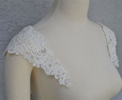 Detachable Ivory Alencon Lace Straps to Add to your