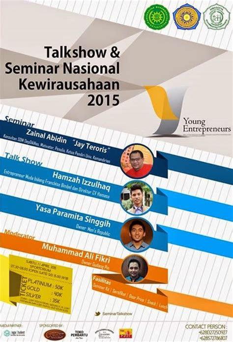 talkshow  seminar kewirausahaan nasional  young