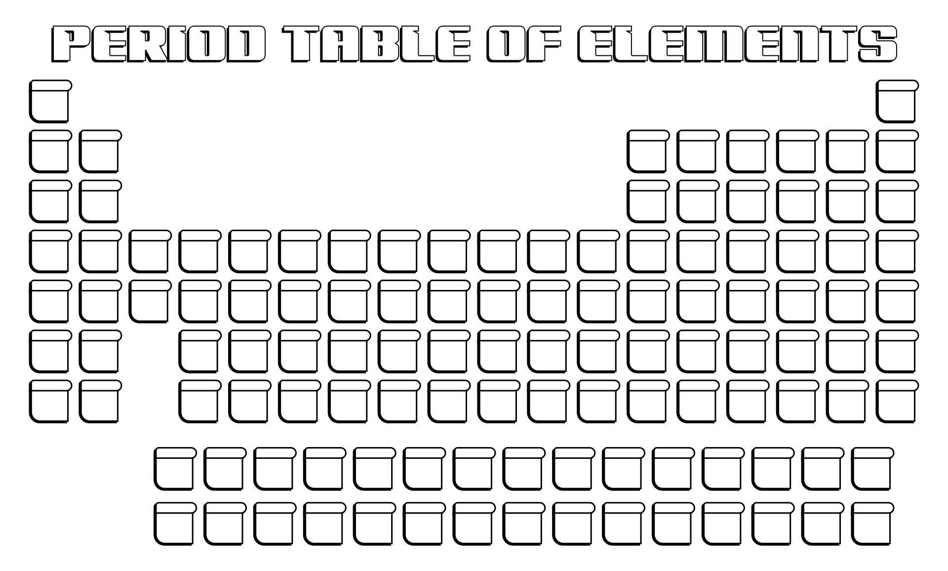 Blank Periodic Table Worksheet - Davezan