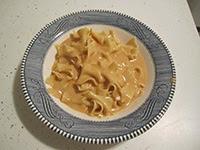 Bowl of Paprikash noodles