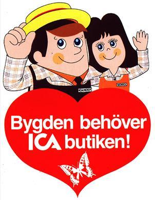 ICAnder och MonICA, klistermärke, 1982 ca.
