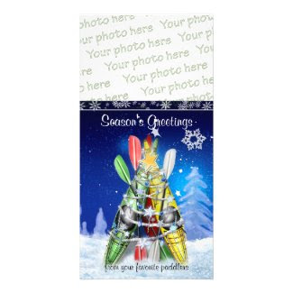 Kayak Christmas Tree Photo Christmas Card