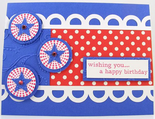 Red, White and Blue Birthday Card